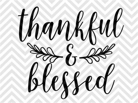 We provide a large selection of free svg files for silhouette, cricut and other cutting machines. Thankful and Blessed Farmhouse SVG Cut File • Cricut ...