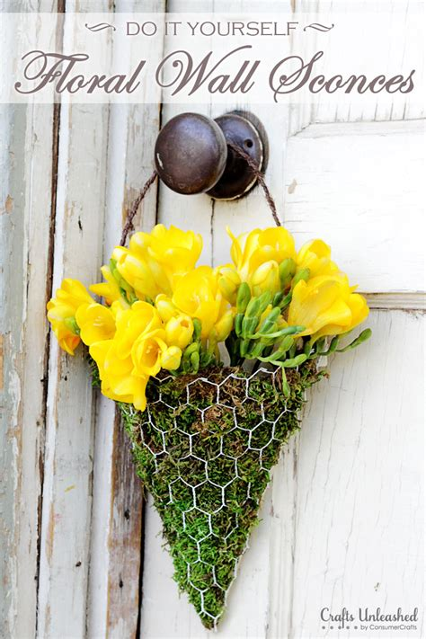 floral wall sconce floral wall sconce tutorial make your own floral decor