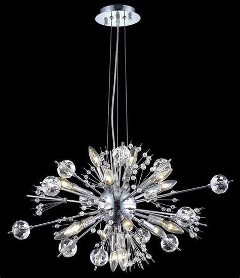 chrome sputnik chandelier chrome quot sputnik quot style 22 light chandelier