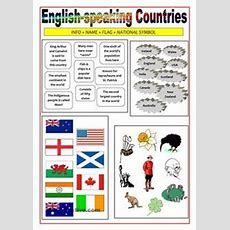 English Worksheet Colouring Flags Of English Speaking Countries  School Illustrations