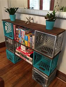 25 best images about Milk Crate Furniture on Pinterest