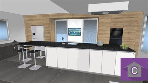 cuisine noir mat et bois cuisine noir mat et bois 14 3d cuisine ilot 3d cuisine