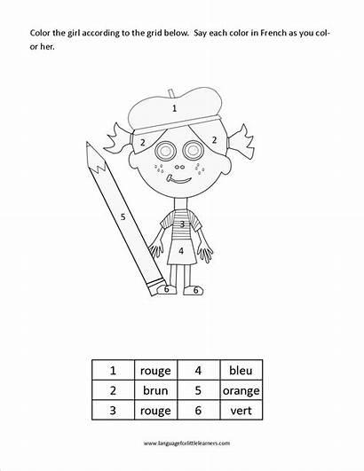 French Worksheet Printable Colors Freebie Word Worksheeto