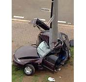 The Driver Lost Control Of Car And Crashed Into Pole ABC TV