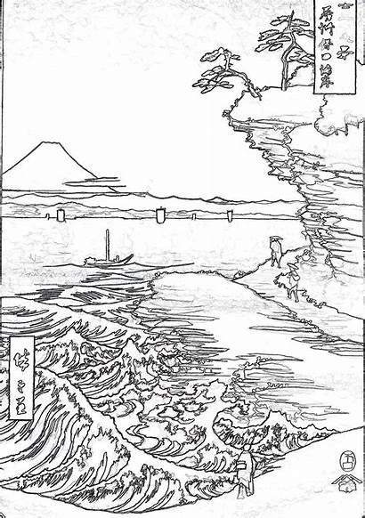 Coloring Pages Adult Japanese Japan Ancient Jref