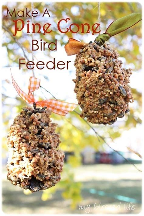 Bird feeder pine cones   reindeer camp   Pinterest