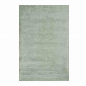 tapis moderne vert en laine et viscose With tapis laine moderne