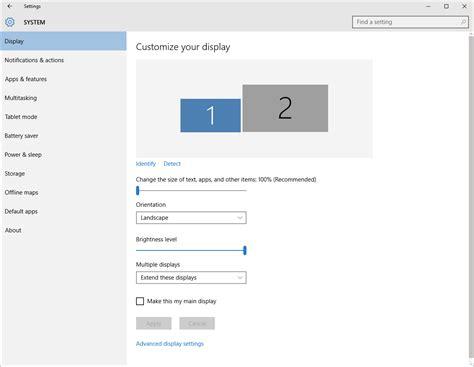 use windows 10 s individual display scaling to your multi monitor setup pcworld