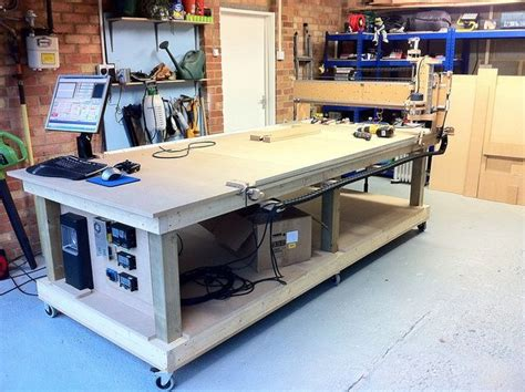 pin  pete kourounis  cnc router woodworking bench