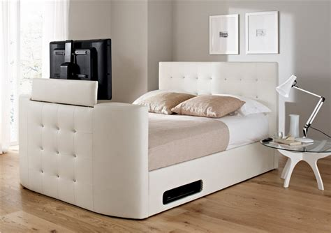 Ottoman Tv Bed atlantis leather ottoman tv bed icreatived