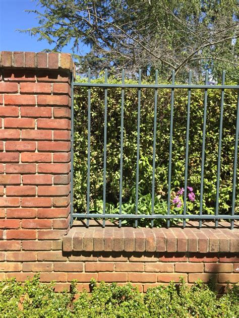 brick and wood fence pictures 96 best images about wood and brick fences on pinterest picket fences front yards and white fence