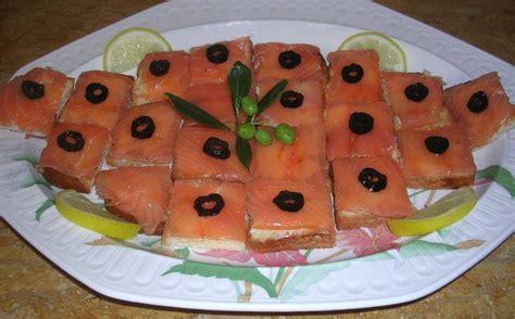 canape au saumon photos canapé au saumon fumé