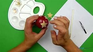 Weihnachtskugeln Selbst Gestalten : weihnachtskugeln selber machen f r den tannenbaum youtube ~ Lizthompson.info Haus und Dekorationen