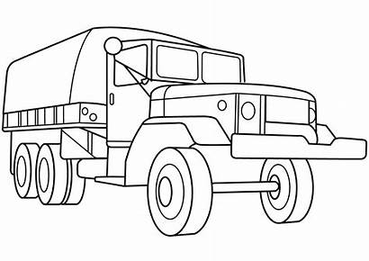 Coloring Military Army Truck Vehicles Vehicle Printable