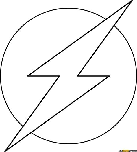 Flash Logo Coloring Pages  Free Printable Online Flash Logo Coloring Pages  Only Coloring Pages