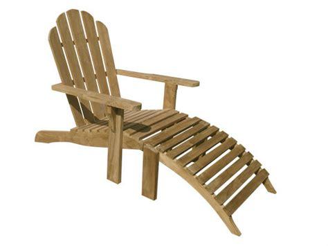 sedia a sdraio in teak con poggiapiedi riviera by il