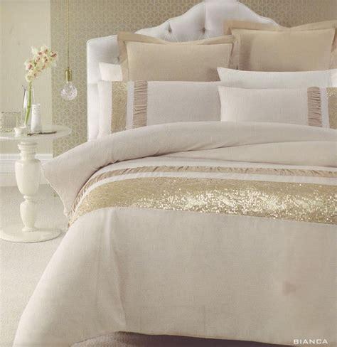 King Bedroom Duvet Sets by Gold Beige Golden Sequins King Quilt Doona