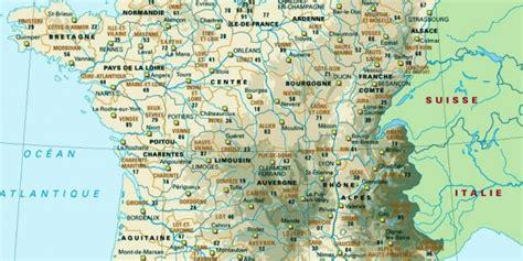 Carte De Avec Villes Principales Et Départements by Infos Sur Carte Des Villes Arts Et Voyages