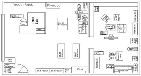 workshop floor plans  plans diy