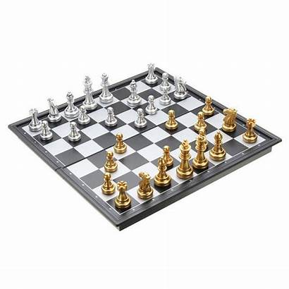 Chess Board Silver Magnetic Gold Folding Pieces