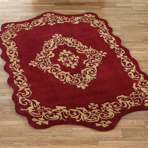 Rugs With by Palatial Scroll Sculpted Wool Area Rugs