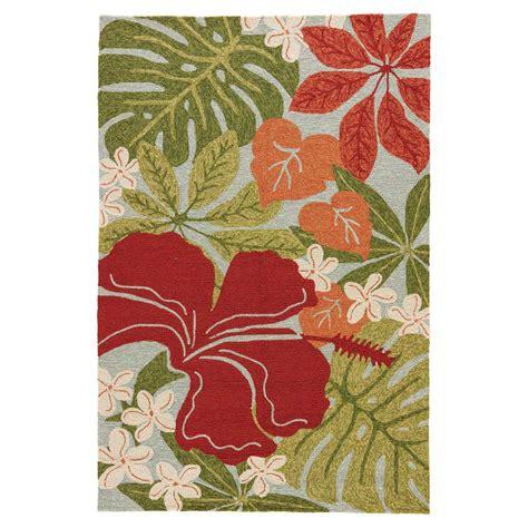 honolulu hibiscus indooroutdoor rug