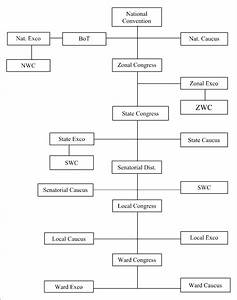 Organizational Structure Of Pdp  Source  Constructed From