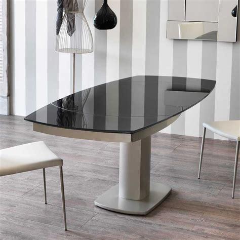 Tisch Holz Glas by Glas Esstisch Castawa In Grau Mit Kopfauszug Pharao24 De