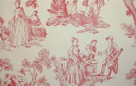 toile wallpaper red gallery