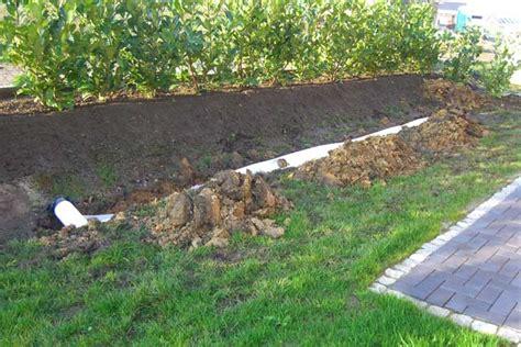Verlegung Einer Zusätzlichen Drainage Im Garten Die