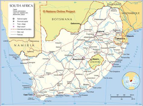 map  south africa nagberr