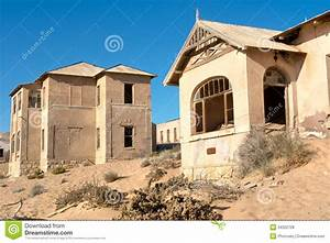 Abandoned Houses In Sand Stock Photo Image Of Building