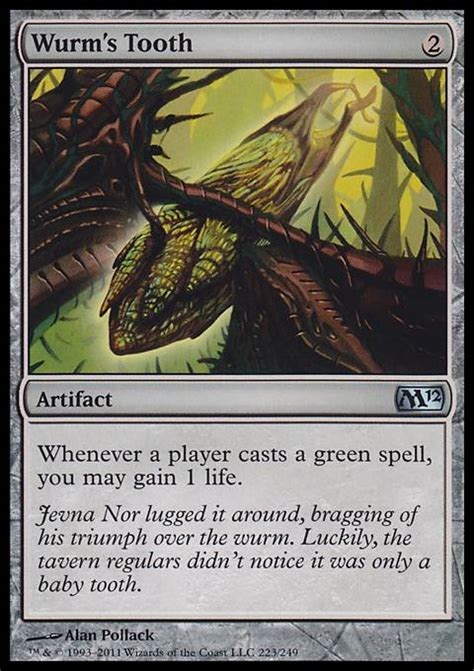 wurm s tooth m12 mtg card