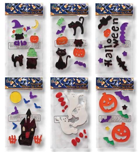 halloween window gel clings pumpkins bats ghosts