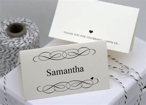diy printable place card template  tutorial card