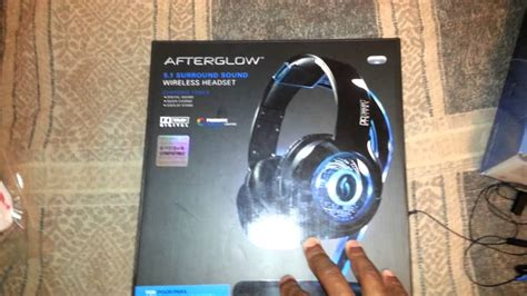 pdp afterglow ps gaming headset review youtube