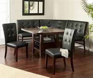 80 idees pour bien choisir la table a manger design for Meuble salle À manger avec chaise cuir noir salle manger