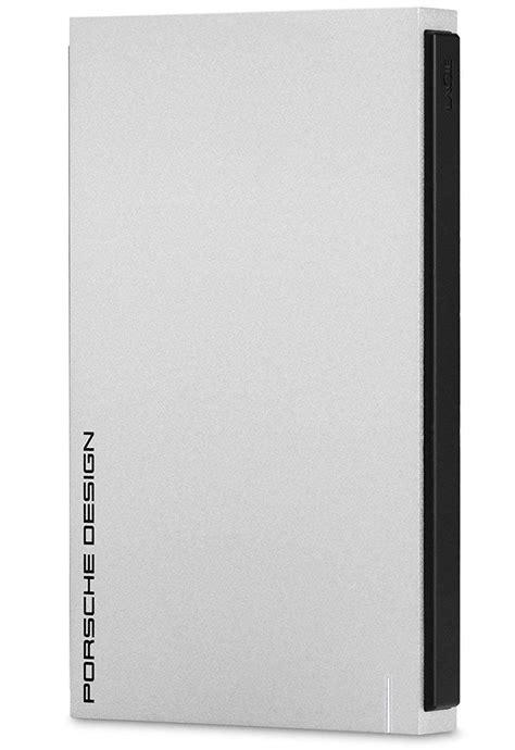 The lacie porsche design mobile 4tb version has dimensions of 128 mm x 84 mm x 21 mm and weighs 315 grams. LaCie Porsche Design 2.5 1TB USB 3.0/C light-grey (STET1000403) | T.S.BOHEMIA