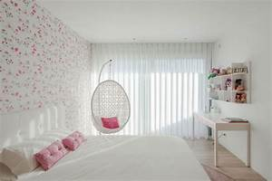 Cool White Teenage Girl Bedroom With Modern Floral ...
