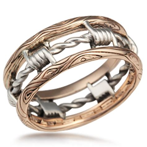 barbed wire wedding band