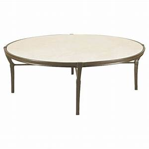 Jane modern french round stone top metal outdoor coffee for Metal coffee table with stone top