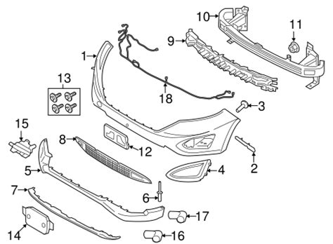 Bumper Components Front For Ford Edge Oemfordpart