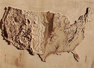 These 3D-Cut Wooden Maps Are Made Using Satellite Data ...