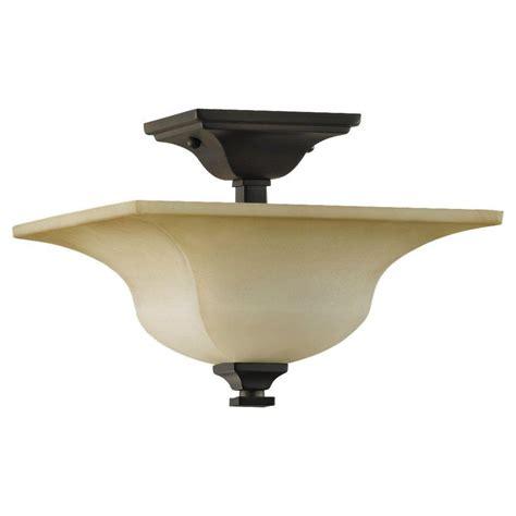 semi flush mount lights feiss american foursquare 4 light rubbed bronze semi