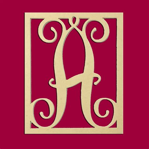 "14"" Monogram Capital Letters Unfinished DIY Wood Craft"