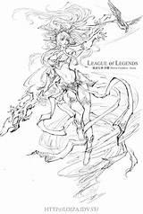 Legends League Coloring Colouring Janna Crayon Sheets Goddess Deviantart Storm sketch template