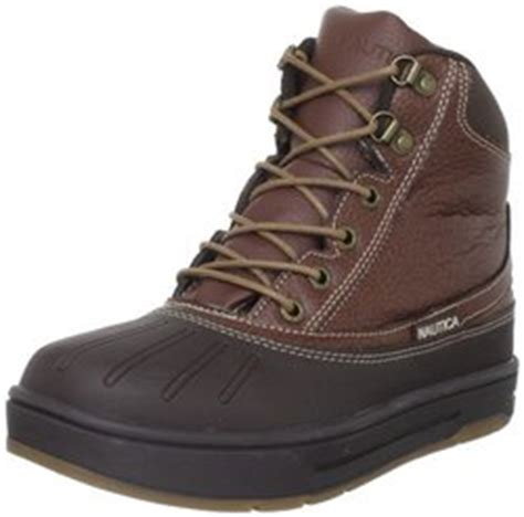 nautica boys  bedford leather winter boots brown