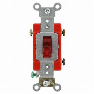 Single Pole Pilot Light Toggle Switch 20amp Industrial Grade Heavy Duty Red 78477224427