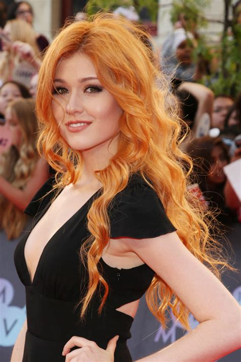 katherine mcnamara wavy ginger barrel curls hairstyle