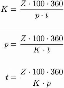 Motordrehzahl Berechnen Formel : zinsrechnung formeln und beispiele ~ Themetempest.com Abrechnung